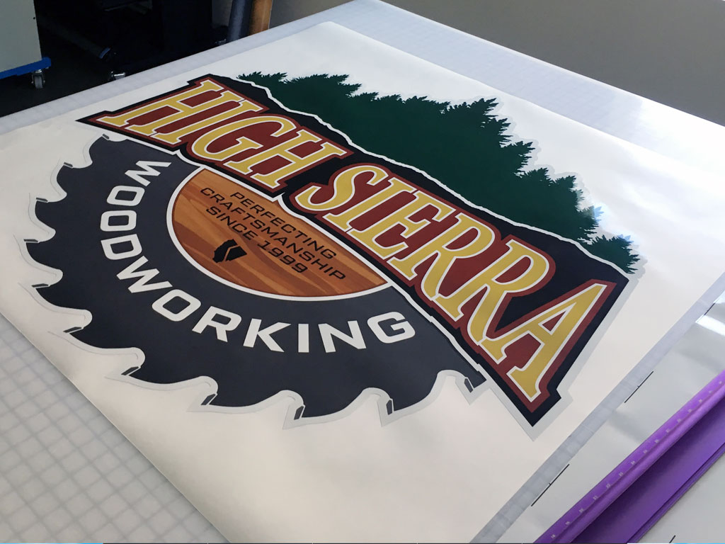 High Sierra Woodworking Illustrated Logo