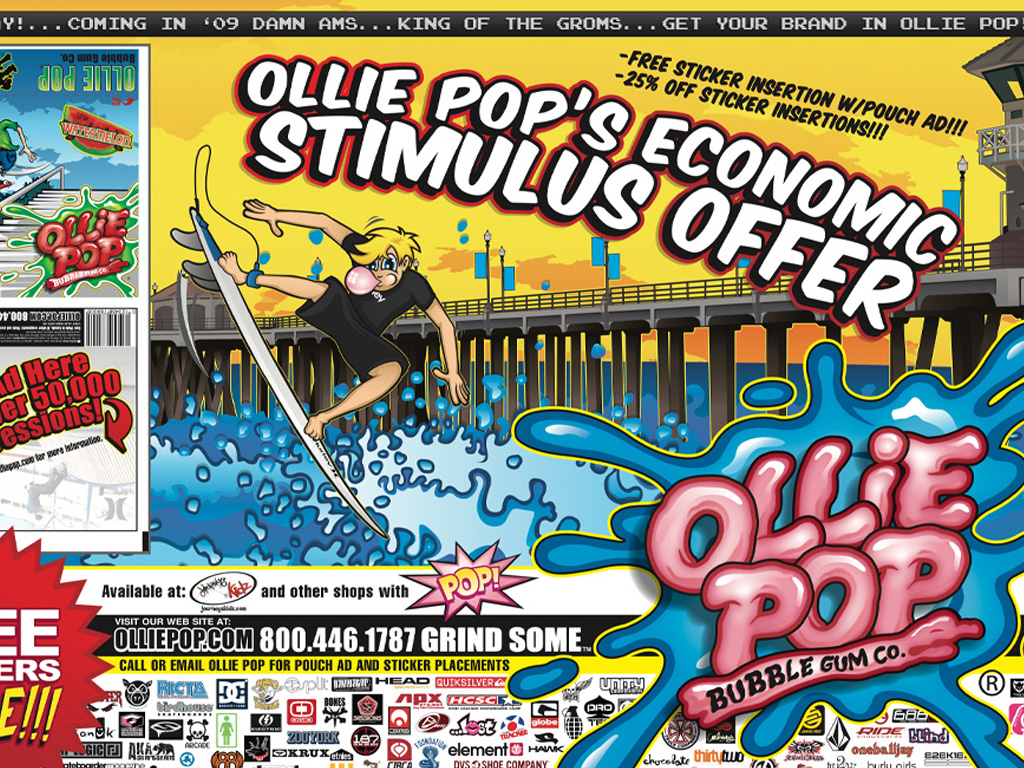 Ollie Pop Bubble Gum B2B Advertising