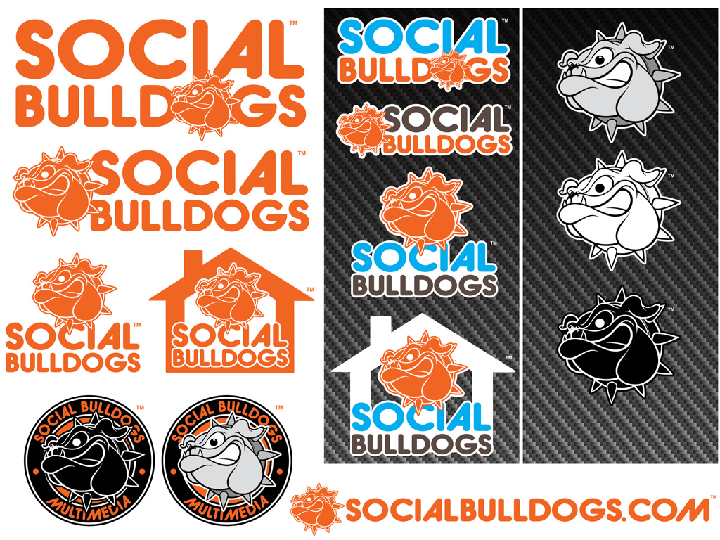 Social Bulldogs Logo Illustration