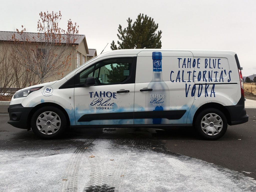 Tahoe Blue Vodka Ford Transit Connect
