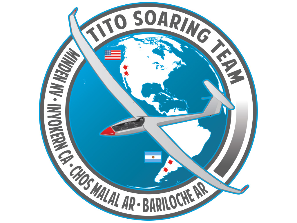 Dennis Tito Soaring Team Logo Illustration