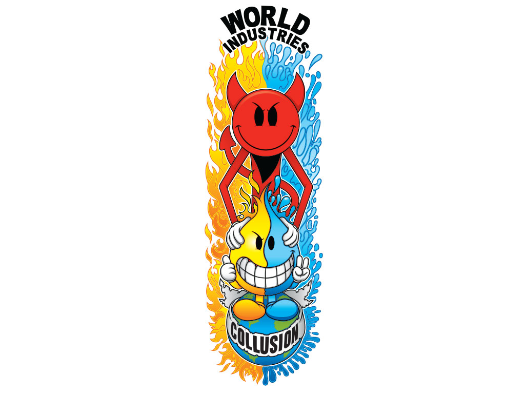 World Industries Skateboard Deck Illustration